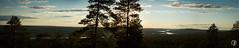 Panoramaakuva Kuninkaanlaavulta (6 kuvaa) / Panorama from Kuninkaanlaavu (6 pics) (ollijunes) Tags: panorama river rovaniemi lapland midnightsun lappi panoraama ounasjoki