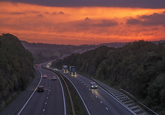 Sunrise Over The Motorway    (Explored 04/12) (Follow That Dream Photography) Tags: sunrise traffic motorway herefordshire m50 warmglow beautifulsunrise vision:mountain=0758 vision:sunset=0871 vision:sky=0789 vision:clouds=0709 vision:ocean=0532 vision:outdoor=0922 sunriseovermotorway