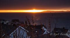 last sun of the year (kjellbendik) Tags: sol norge himmel hus hav finnmark facebook honningsvg bygning magerya byggning naturoglandskap kjellbendikgmailcom