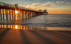 Starburst (toddworton) Tags: ocean sunrise pier malibu