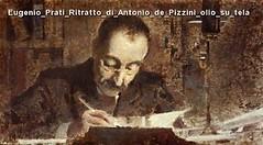 Eugenio Prati Ritratto di Antonio de Pizzini olio su tela