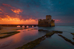 Alba su Torre Astura (Simone Angelucci) Tags: tower sunrise italia torre alba lazio d600 torreastura 1635f4