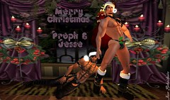 Santa Slaves (Jesse Belavidorico) Tags: christmas gay sexy love candles sl master secondlife slave