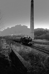 Tall Chimneys (Stephen Robb Photography) Tags: winter sun white black river frost valley and warmer n7 churnet 69621 cvrwinter