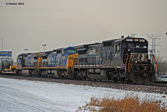 NS-CSX Manifest Hodgkins_0148 12-13-13 (eyepilot13) Tags: winter trains railroads csx freighttrain norfolksouthern c408w 7850 8747 9040 cw409 c408 foreignpower chillicothesub bnsfhodgkins