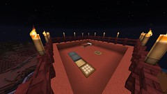 Tower Living (GumbyBlockhead) Tags: night bed torches chest furnace survival trapdoor minecraft gumbytowers browntoweratmesacontinent craftingblock