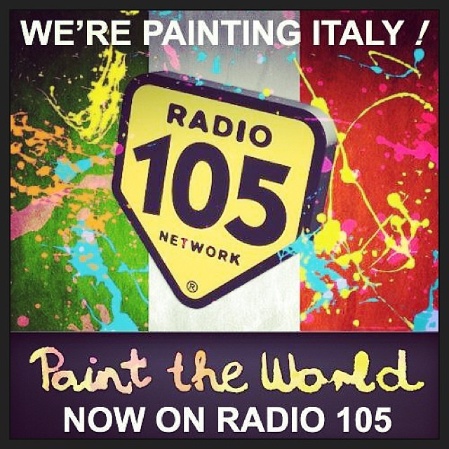 'Paint The World' is already on Radio 105, one of the biggest radio station in Italy - Grazie mille Italia, fantastico !!
