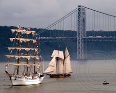 Parade of Sail on the Hudson River, OpSail 2012 and Fleet Week New York (jag9889) Tags: city nyc bridge sea usa ny newyork history ship manhattan military ships banner navy sailors historic parade celebration civilwar american maritime sail week hudsonriver regatta marines tall fleet visiting operation usnavy schooner tallships marinecorps bicentennial services gwb georgewashingtonbridge vessels warof1812 fleetweek 2012 1812 uscg opsail uscoastguard starspangled operationsail coastguardsmen jag9889 fleetweek2012 y2012 opsail2012