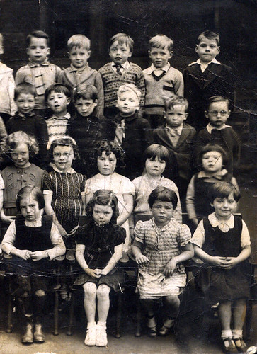 James Cheney (top row 3rd from right) St Marks Primary School Shettleston 1950s