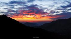 Sunset Energy-I (Aadilsphotography) Tags: pakistan sunset sky panorama orange mountains clouds canon photography studios kpk 1100d aadils fadils