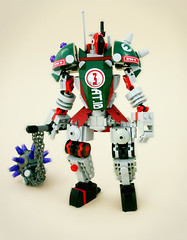 Brigadier Mk.3 (tin) Tags: robot lego rude mace build stomp shoulder mecha mech drone clunk brigadier atin vision:text=0766 vision:outdoor=0644 dronuary