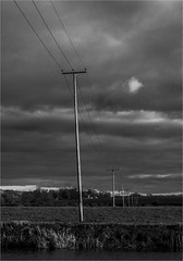 Distant power (Clive1945) Tags: bw mono cables flickrific d7100 kempseycameraclub