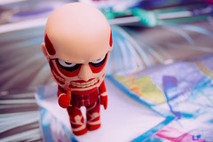 Yummm! (dtchan) Tags: vancouver toys bokeh voigtlander olympus figure omd 25mm em5 nendoroid attackontitans
