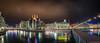 Eau Energie Réseaux Environnement...Geneva (Julien Boss) Tags: panorama geneva bynight 219 mygearandme d800e