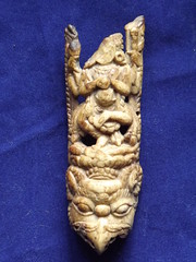 Tibetan Carved Bone Plaque from a Ritual Apron. (TREASURES OF WISDOM) Tags: old sculpture whatisthis love look mystery museum wow wonderful religious temple nice fantastic ancient worship shrine view spirit antique quality yes buddhist magic faith prayer buddhism visit carving exhibition religon collection sacred offering unknown gods ritual tibetan bone longevity unusual vibes spirituality wisdom om spiritual artifact healing paganism brilliant puja deity shamanic processional votive himalayan pagan artefact relic unseen namaste mythical tantric ceremonial tribalart ancientworld ethnographic intresting wotsit humanbone tsam ommanipadmihum tsamdance wisdomfromtheeastwisdomfromthewest tsambone