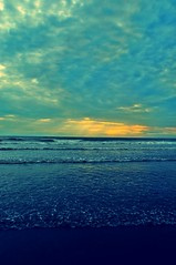 My kind of blue (Abhijit Chendvankar) Tags: sunset sea sun india photography sand nikon flickr surf waves maharashtra mumbai juhu arabiansea juhubeach
