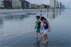 Garden City Beach, SC 2014 (jblorx) Tags: nikon d7000 south carolina garden city beach 1755mm nikkor evening sunset nick emili