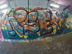 Noser (Central Nerve System) Tags: wall graffiti hall mural paint colours fame spraypaint graff piece hof noser cns soest hofje serl