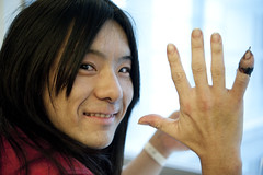 "i love you 002 34 ""HAYATO"" (atem_y_zeit) Tags: man japan hospital tokyo accident mitaka 60mm acacia guitarist fingeramputation d700 アカシア bleedforpain atemzeit atemyzeit"