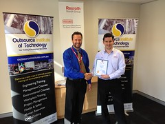 Bosch Rexroth Student receiving their Certificate IV in Engineering