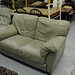 Beige leatherette chair