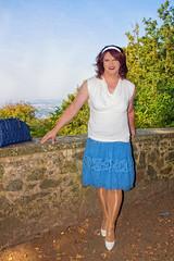 BF1b (Tinaturtle27) Tags: crossdresser transvestite pantyhose burgfrankenstein