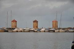 Windmills at Mandraki Harbour (Pedro Costa Ferreira) Tags: rhodes rhodesisland mandraki harbour windmills