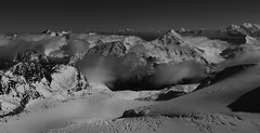 Mittel Allalin (stephenbradbury23) Tags: blackandwhite monochrome mountain sea water outdoor surreal landscape allalin saas fee