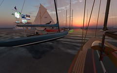 FJ2016 @ NYC - Fins to the left.... (vivipezz) Tags: secondlife sailing sl nyc nantucket shields q2m bandit if