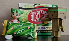 Have a Break....  (Damien Saint-) Tags: danbo revoltech toy vinyl danboard amazon yotsuba food snacks kitkat japan