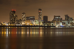 Liverpool Waterfront (David Chennell - DavidC.Photography) Tags: liverpool merseyside night waterfront cityscape rivermersey