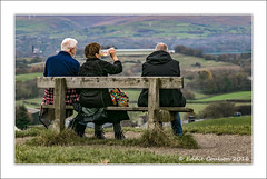 Rest Awhile (Explore 20/11/16) (Fermat 48) Tags: tandlehill country park walkers hikers bench view monument waterbottle walking refreshments