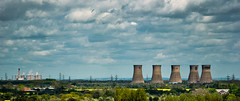 Thorpe Marsh & Drax Power Stations viewed from Doncaster. (Michael's pics... (The Amateur Wanderer)) Tags: thorpe marsh power station drax cooling towers demolition demolished doncaster south yorkshire frenchgate the amateur wanderer
