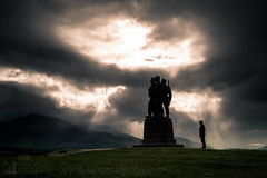 In Memoriam (GenerationX) Tags: 1952 achnacarrycastle aonachmr barr bennevis britishcommandos canon6d fortwilliam highlands lochaber neil scotland scottsutherland scottish speanbridge bronze clouds hills landscape memorial mountains plinth rays silhouette sky solitary statue weather unitedkingdom gb