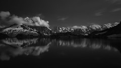 Ansel (TeeJay_S) Tags: lacblanch chamonix france french alps alpes frenchalps mountains nature blackandwhite bnw explore outside travel outdoors montblanc reflection