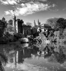 Belvedere Castle _ bw (Joe Josephs: 2,861,655 views - thank you) Tags: manhattan nyc newyorkcity newyork travelphotography travel photojournalism centralpark centralparknewyork centralparkfallautumnnewyorkcity blackandwhitephotography blackandwhite fineartphotography fineartprints