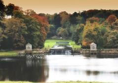 Autumn, Studley Royal (robin denton) Tags: studleyroyal fountainsabbey landscape autumn northyorkshire yorkshire nationaltrust waterscape lake gardens formalgardens