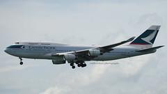 Boeing 747-467, Cathay Pacific, B-HUI, HKG (carlcowkau Photography) Tags: carltang carlcowkauphotography cathay cathaypacific cathay747 cx cpa hongkong hongkonginternationalairport vhhh approach 25r boeing 747 744 747400 747467 bhui