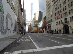 Parade Day Ghost Streets New York November 2016 (1153) (Richie Wisbey) Tags: ghost streets new york quiet closed off crosstown traffic macys polie policing sand trucks cops nypd guns protect serve felt safe best force earth excellent logistical nightmare empty scenes richard wisbey flickr usa exploring explored