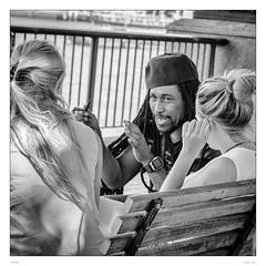Conjuration (sdc_foto) Tags: sdcfoto bw blackandwhite street streetphotography pentax pentaxart london thames talking girls