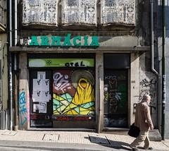Porto street art 2 (flickrolf) Tags: porto oporto portugal madonna window door man street art portoportugalpt
