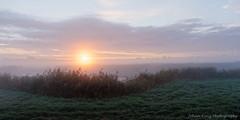 Autumn sunrise (Johan Konz) Tags: sunrise misty light sky clouds outdoor weidevenne landscape purmerend netherlands serene atmosphere nikon d90