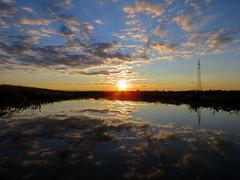 IMG_0002x (gzammarchi) Tags: italia paesaggio natura pianura campagna ravenna villanovadiravenna tramonto sole nuvola pozzanghera