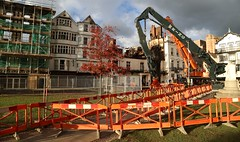 Exeter's Cathedral Green after the fire (matt.clark25) Tags: fire exeter royalclarencehotel wellhousetavern thegallery cathedralgreen devon demolition damage buildings historical