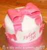 Bow & Butterflies Birthday Cake