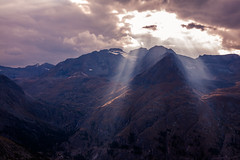 Valsavarenche, 2016 (Laurent Moose) Tags: rifugio frederico chabod valsavarenche aosta sunset clouds rays