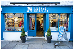 Love the Lakes (theimagebusiness) Tags: theimagebusiness theimagebusinesscouk travel tourism touristattraction england d700 fun historic nikon outdoors outside open outdoor retail street uk weather shop store shopping december christmas storefront quirky town gift arty craft artistic homemade products sign lettering windermere lakedistrict cumbria
