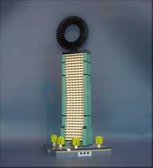 SMC Skyskraper (adde51) Tags: adde51 lego moc microscale micro micropolis skyskraper architecture ring wheel swebrick building house