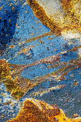 splatter Art 83 (Jae at Wits End) Tags: textured abstract blue color rust texture corroded corrosion line lines metal oxidation oxidized patina pattern rusty shape shapes