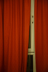 Very red curtains (Lucky Poet) Tags: curtains night red window